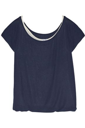 SPLENDID Layered stretch-jersey top