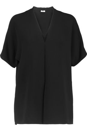 VINCE. Layered crepe top
