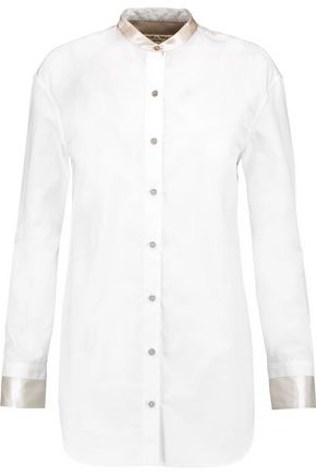 RAG & BONE Ash cotton and silk blouse