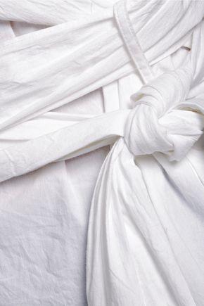 W118 by WALTER BAKER Ellen one-shoulder striped cotton-poplin top