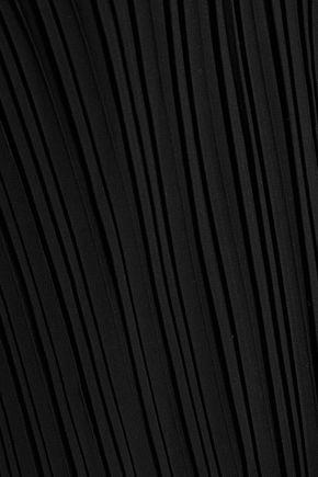 W118 by WALTER BAKER Fritz cold-shoulder plissé-crepe top
