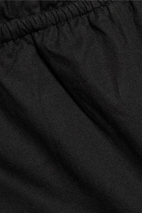 W118 by WALTER BAKER Jerry off-the-shoulder ruffled striped cotton-poplin top