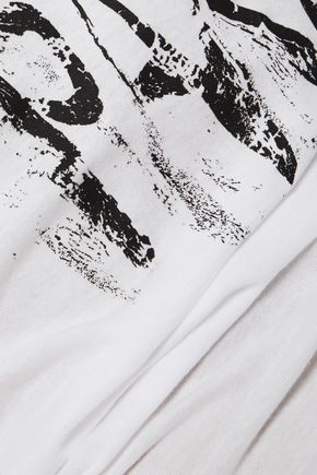 HAIDER ACKERMANN Printed cotton top