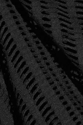 T by ALEXANDER WANG Cutout stretch cotton-blend jersey top