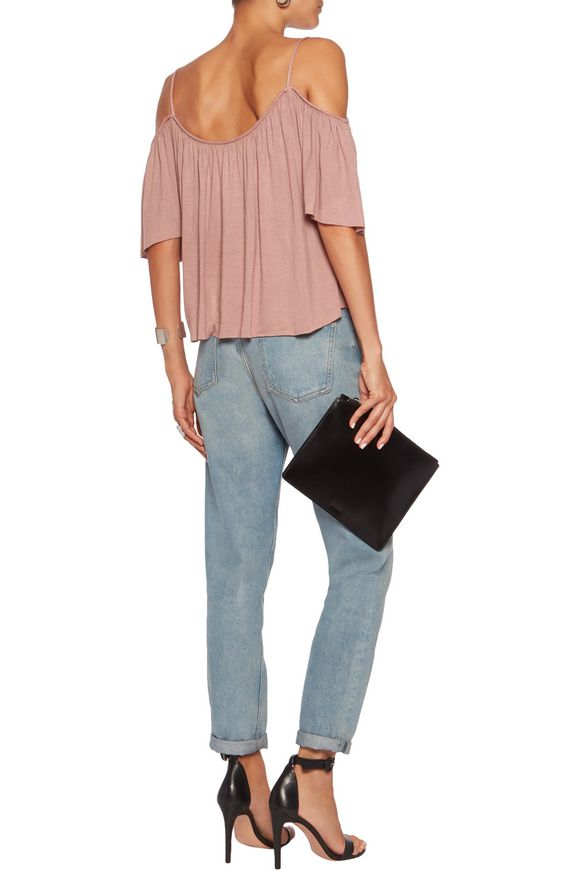 Fairy cold-shoulder gathered jersey top | BAILEY 44 | Sale up to 70% off |  THE OUTNET