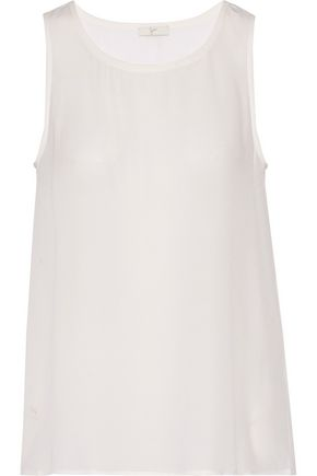 JOIE Loriann washed-silk top