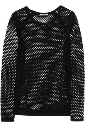 HELMUT LANG Cotton-mesh sweater ...