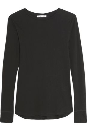 HELMUT LANG Cotton and cashmere-blend jersey top