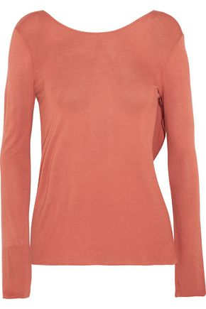 ENZA COSTA Split-back stretch-jersey top