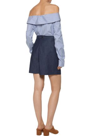 3x1 Gaucho cotton-chambray shorts