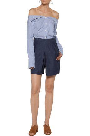 3x1 Gaucho cotton-chambray shorts
