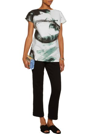 DOLCE & GABBANA Printed cotton-poplin top