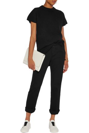 Ribbed wool-blend T-shirt | DKNY | Sale up to 70% off | THE