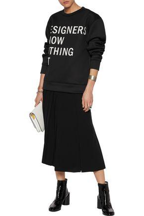 DKNY Printed neoprene sweatshirt