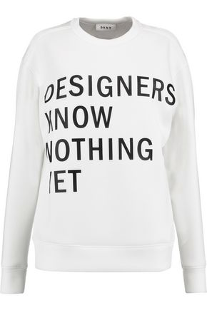 DKNY | Dkny Printed Neoprene Sweatshirt | Goxip