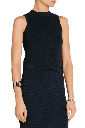 JONATHAN SIMKHAI Cropped textured stretch-knit top