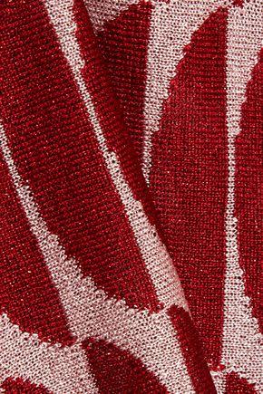 MARNI Metallic knitted halterneck top