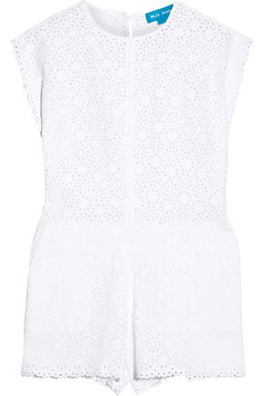M.I.H JEANS Broderie anglaise cotton playsuit