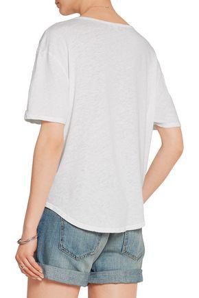 JAMES PERSE Slub linen and cotton-blend T-shirt