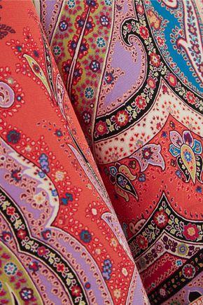 ETRO Printed silk crepe de chine top