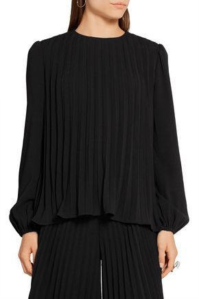 CO Pleated crepe top