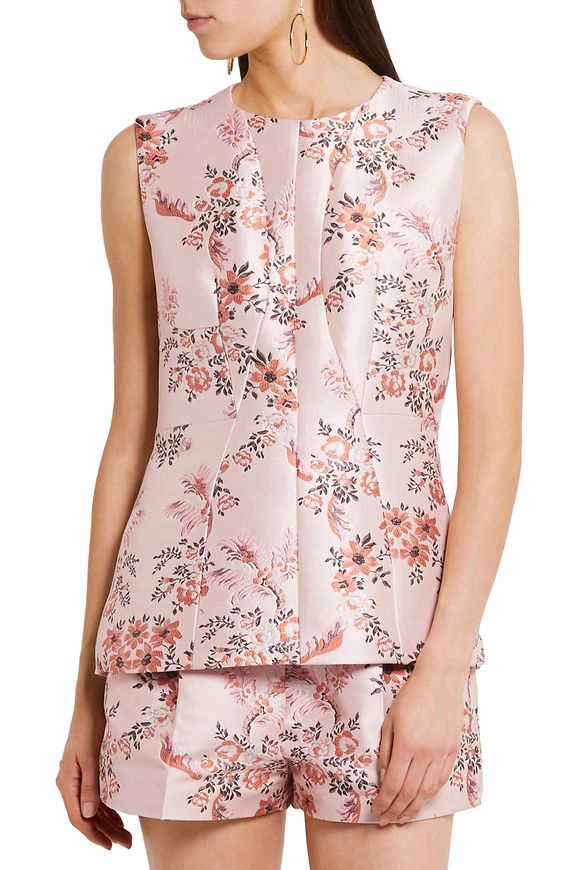 Floral-jacquard and crepe top | STELLA McCARTNEY | Sale up to 70% off | THE  OUTNET