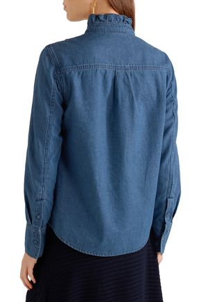 SJYP Ruffled denim shirt