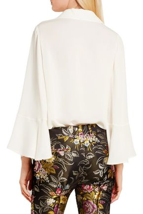 VALENTINO Bell-sleeve silk shirt