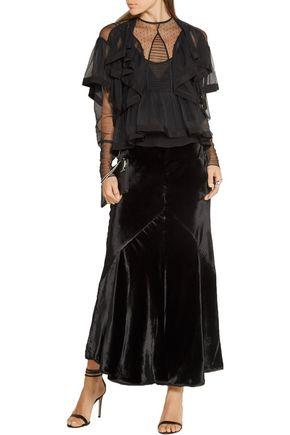 PREEN by THORNTON BREGAZZI Elvina ruffled tulle blouse