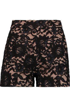 ALEXIS Dean cotton-blend lace shorts