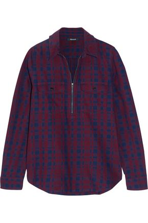 MADEWELL Mckinney plaid cotton-flannel shirt