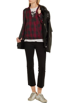 MADEWELL Wrap-effect checked voile shirt