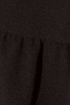 TOM FORD Wool-blend crepe peplum top