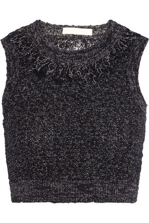 JONATHAN SIMKHAI Open-back frayed cotton and linen-blend top