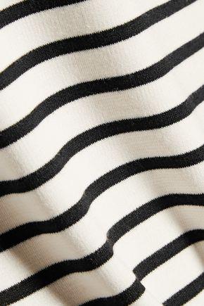 10 CROSBY DEREK LAM Off-the-shoulder striped stretch-jersey top