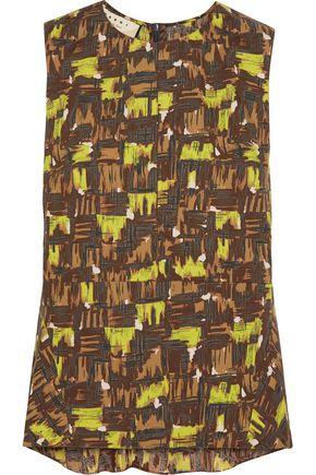 MARNI Printed cotton-poplin top