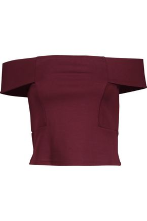 W118 by WALTER BAKER Eve off-the-shoulder stretch-jersey top