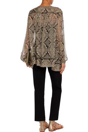 ZIMMERMANN Printed silk-chiffon blouse