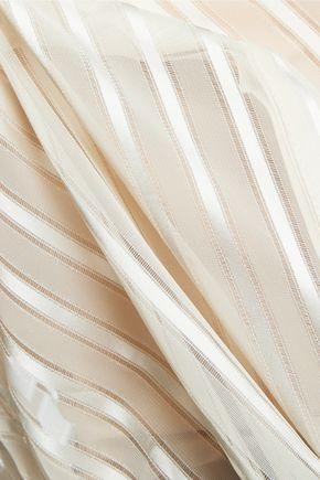 ZIMMERMANN Satin-paneled chiffon blouse