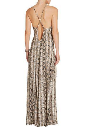 MELISSA ODABASH Angelina printed voile maxi dress