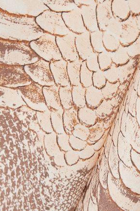 MELISSA ODABASH Keri snake-print silk-georgette kaftan