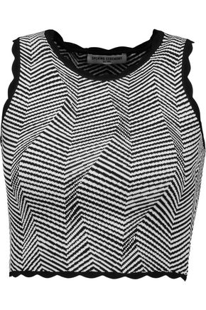 OPENING CEREMONY Cropped striped jersey top