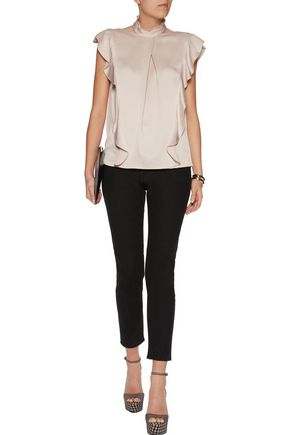 MARISSA WEBB Sharon ruffled satin-crepe top