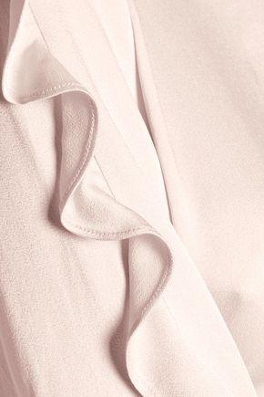 MARISSA WEBB Effy ruffle-trimmed satin-crepe blouse