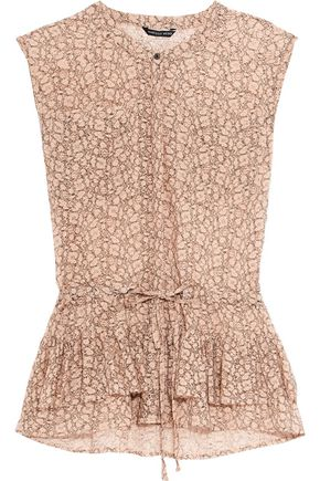 MARISSA WEBB Rania printed corded-lace top