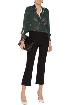 EMILIO PUCCI Printed silk-blend chiffon top