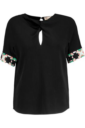 EMILIO PUCCI Knotted crepe top