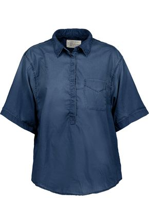 CURRENT/ELLIOTT Cotton-chambray top