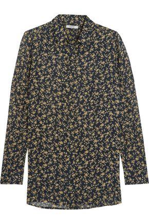 GANNI Floral- print crepe shirt