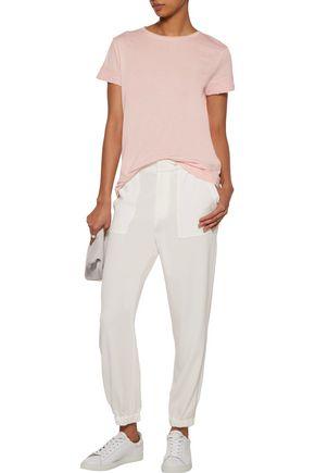 HELMUT LANG Distressed slub cotton and cashmere-blend jersey T-shirt